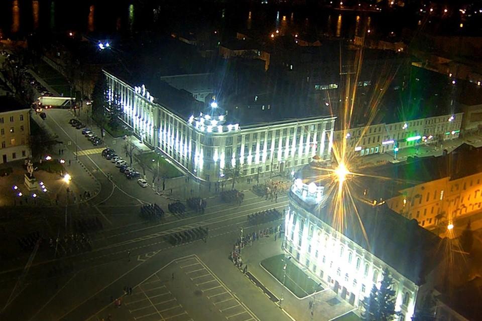 Репетиция парада Победы в Твери Фото: tvhost.ru (скрин видео)