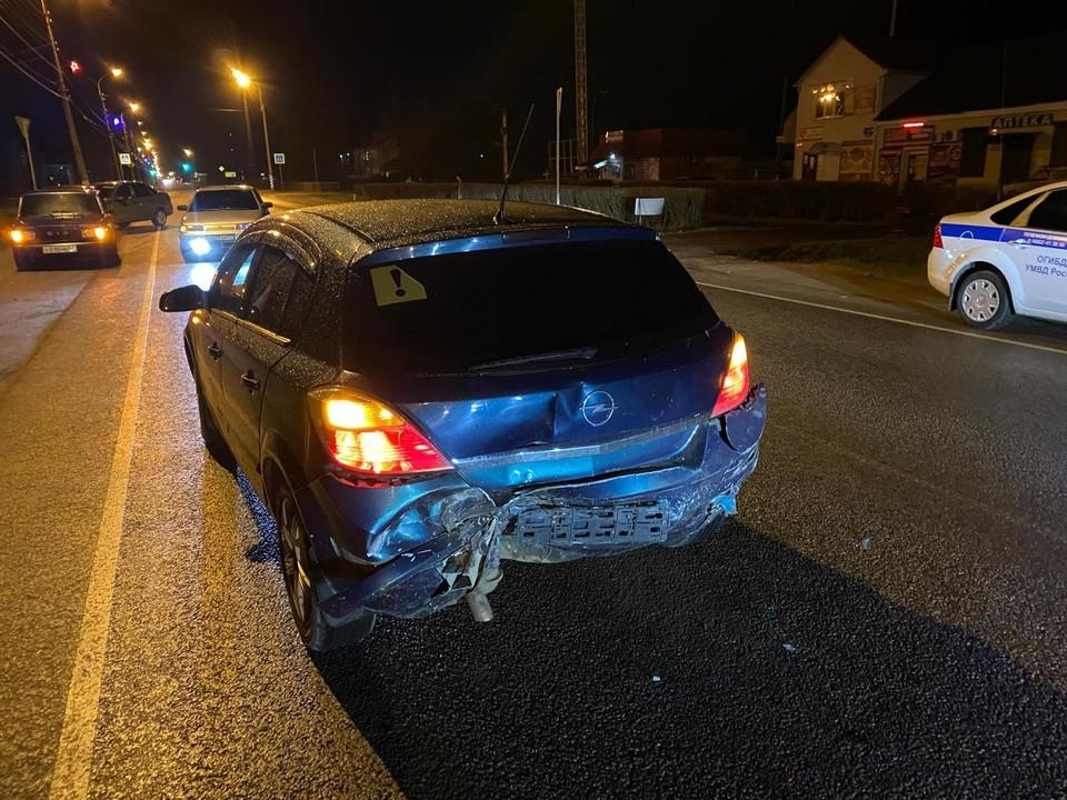 Под Орлом 19-летняя автоледи пострадала в ДТП с «Фордом». Фото Госавтоинспекции Орловской области.