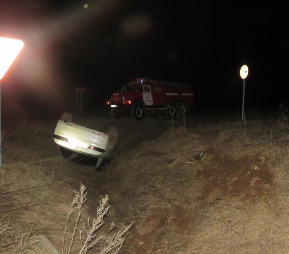28-летний водитель «Honda» погиб в опрокинувшемся в кювет автомобиле в Шарканском районе Удмуртии