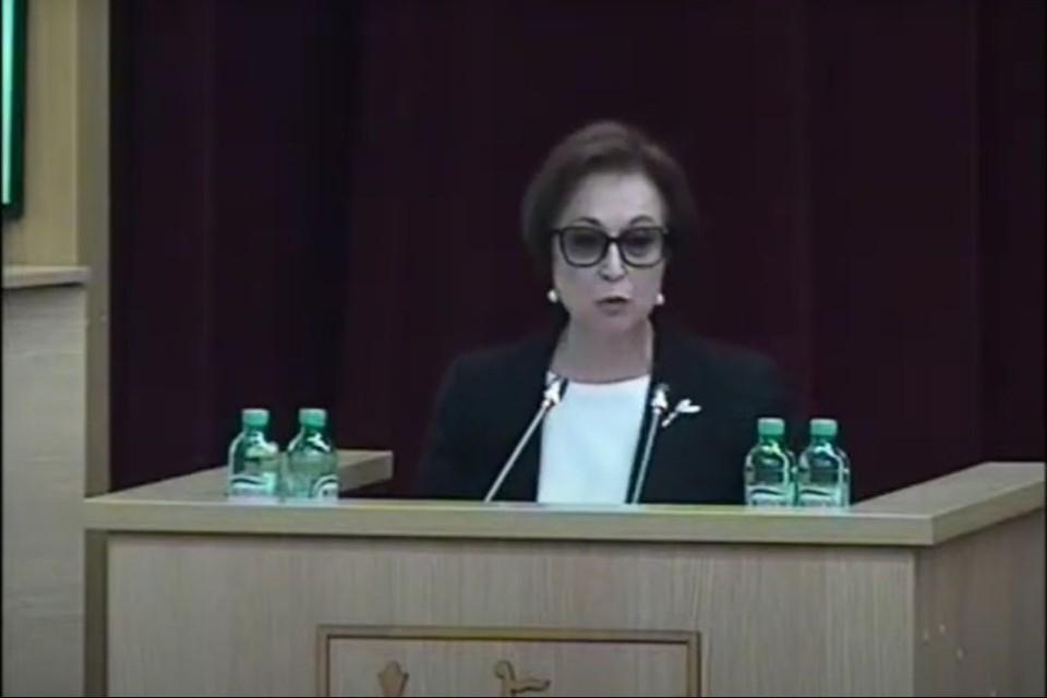27 мая министр охраны окружающей среды Алла Албегова выступила на пленарном заседании ОЗС. Фото: zsko.ru