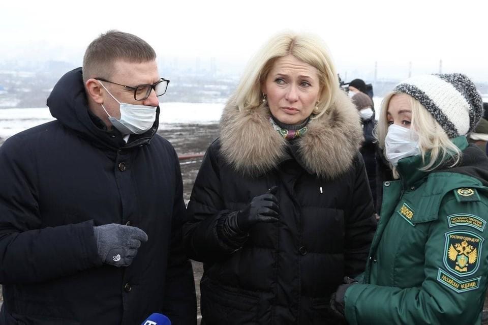 На закрытой свалке в Челябинске Виктория Абрамченко побывала в феврале. Фото: gubernator74.ru