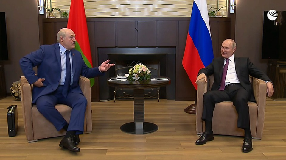 Лукашенко и Путин договорились о втором транше кредита и новых рейсах «Белавиа». Фото: скриншот видео РИА-Новости