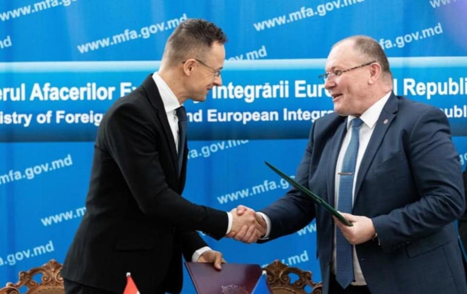 Молдова и Венгрия заключили двустороннее соглашение. Фото: Facebook