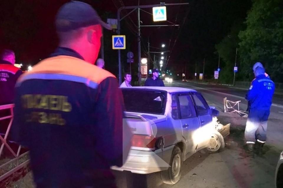 В ДТП на Куйбышевском шоссе пассажир вылетел через лобовое окно. Фото: RZN_Life