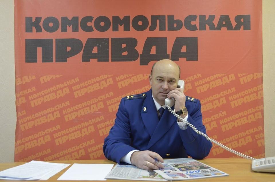 На вопросы читателей «Комсомольской правды» в ходе прямой линии ответил прокурор города Тулы Владислав Анциферов