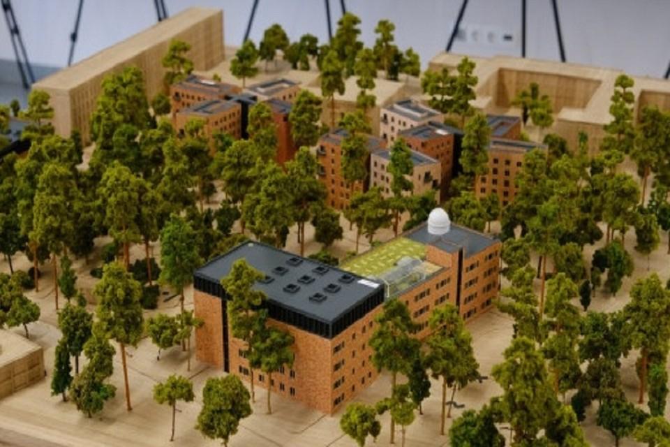 Губернатор Андрей Травников в Сколково представил пилотный проект по созданию нового кампуса НГУ . Фото: предоставлено правительством НСО.