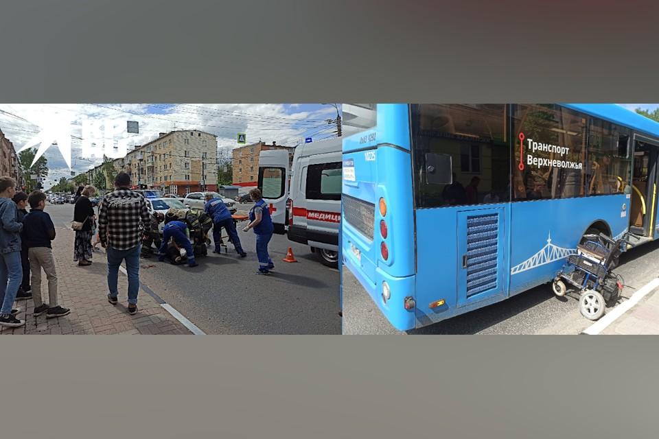 В Твери женщину-инвалида сбил и протащил автобус.