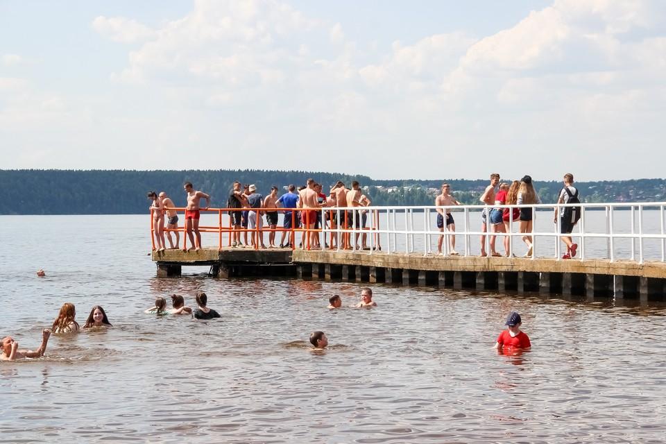 В Перми организовано пять мест для купания.