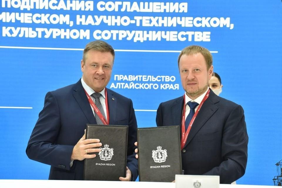 Губернатор Томенко рассказал, что соглашение даст новый импульс развитию отношений Рязанской области и Алтайского края