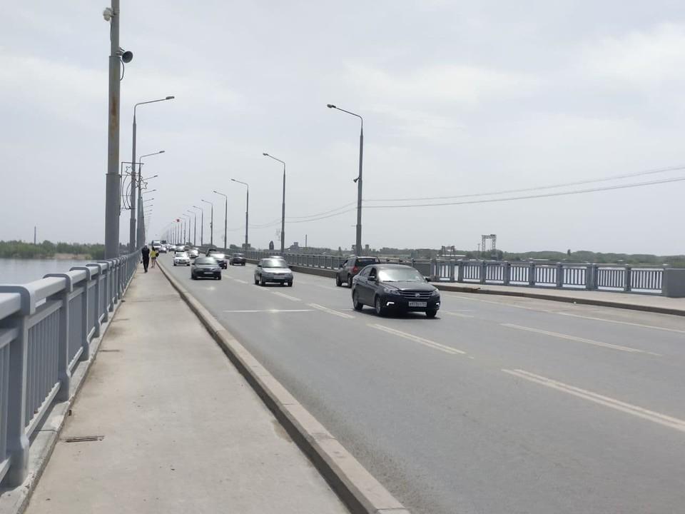 Работы на мосту продлятся примерно до конца июля