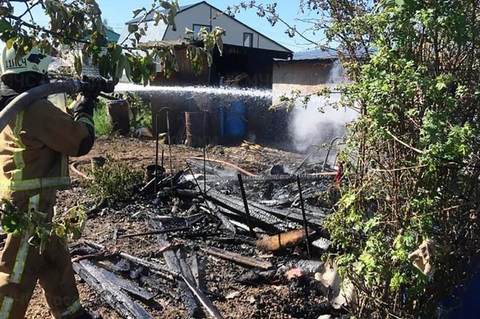 Пожар произошел в Боровском районе.