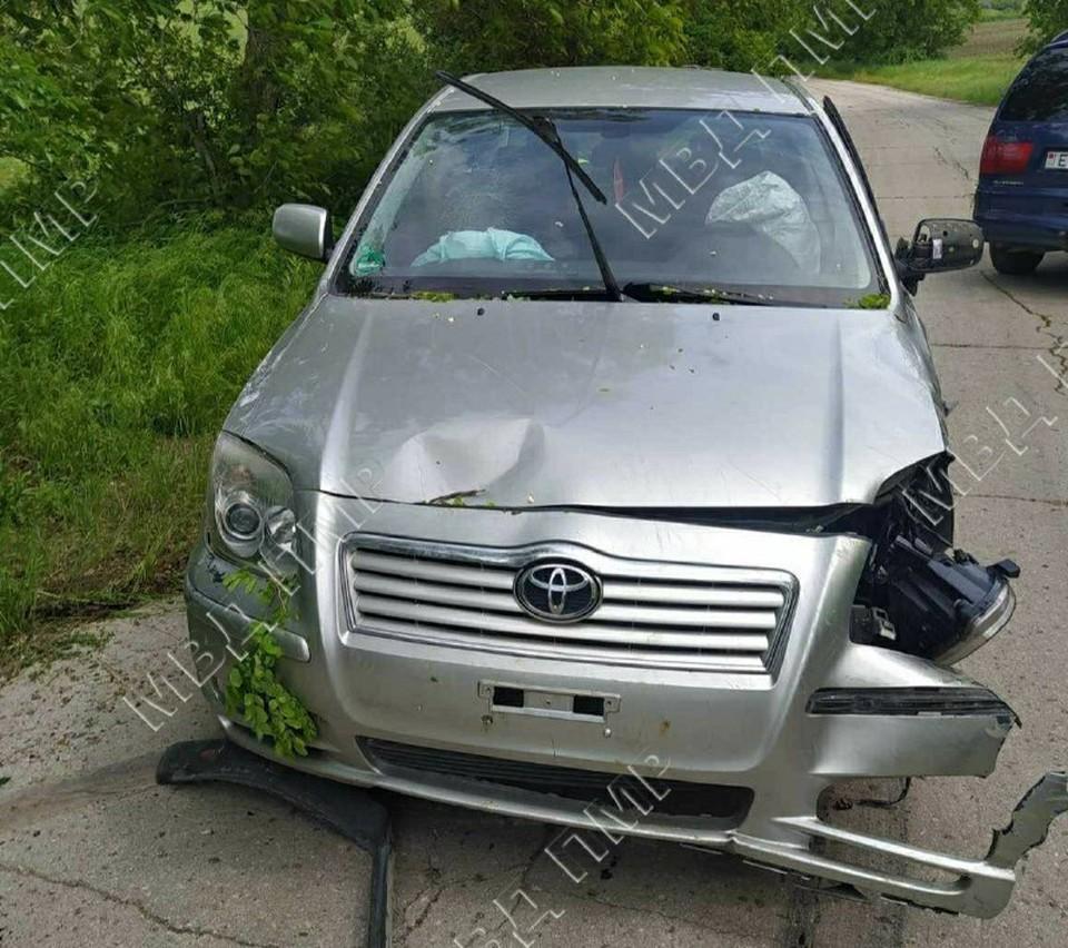 Автомобиль врезался в дерево (Фото: МВД Приднестровья).