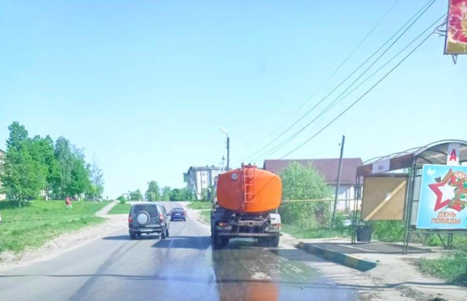 Ежедневный полив дорог в Сергачском районе возобновили по настоянию ГЖИ
