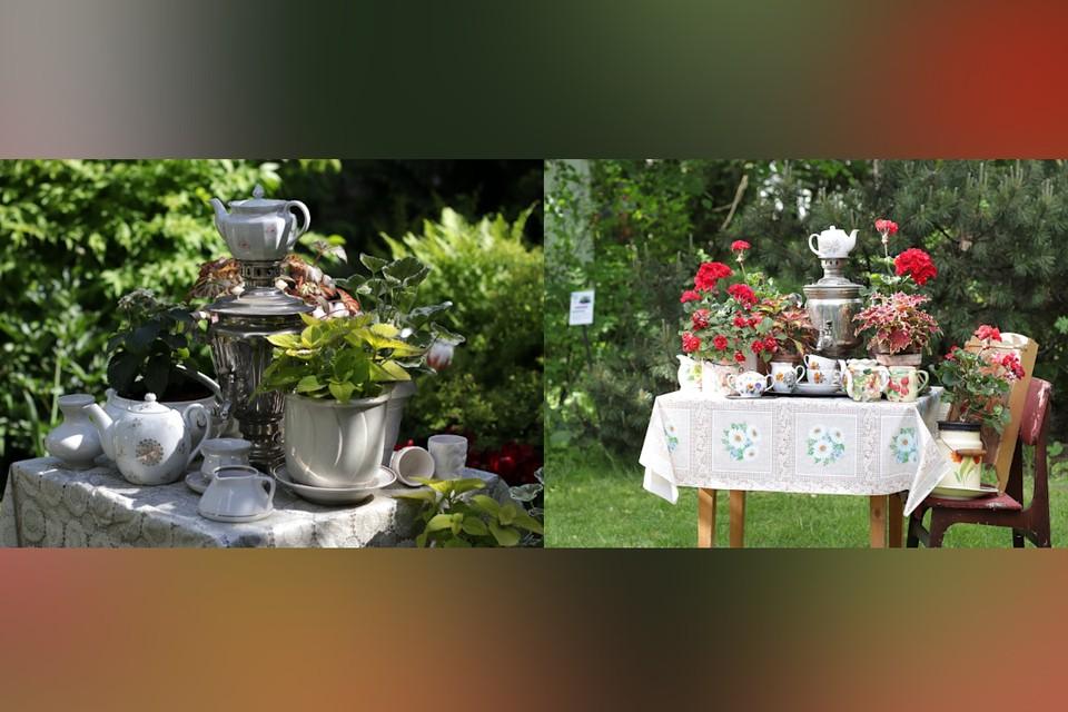 В Твери неизвестные украли два самовара с выставки в ботсаду ТвГУ. Фото: группа в ВК/Ботанический сад • Тверь.