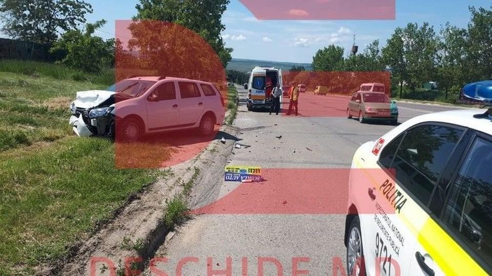 В аварии пострадала женщина с ребенком (Фото: deschide.md).