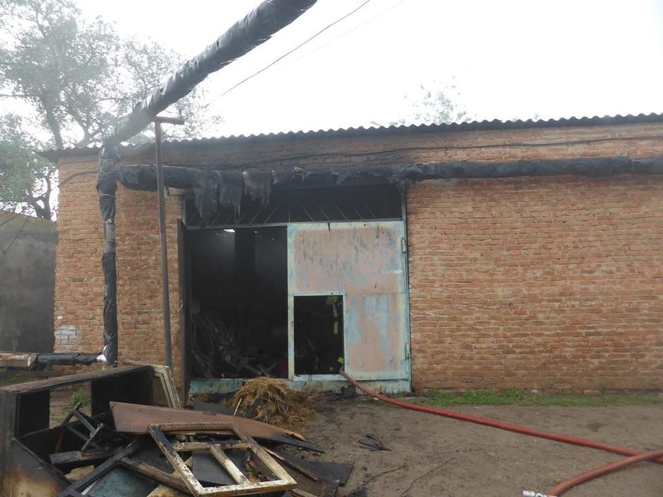 Пожар в техникуме в Новоузенске