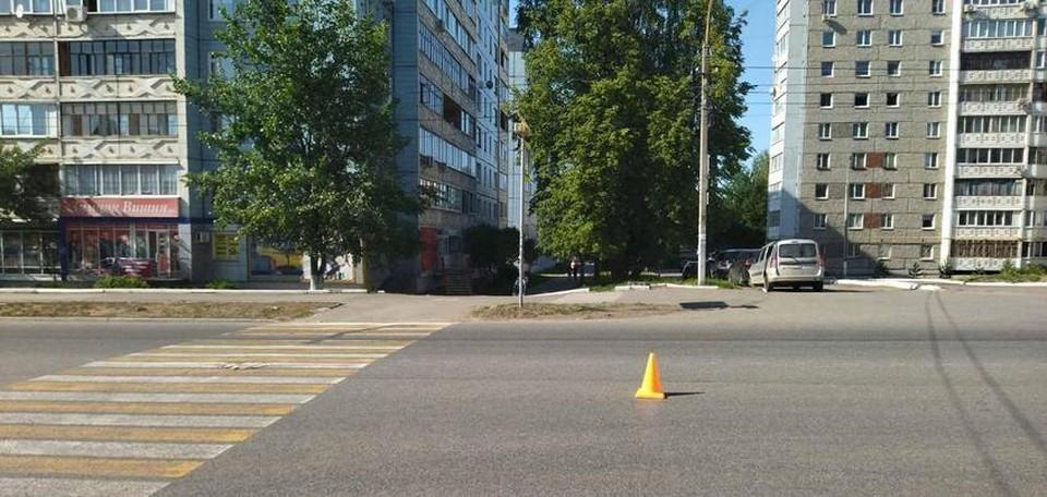 67-летнюю женщину сбили в Ижевске Фото: 1 отдел УГИБДД по Удмуртии