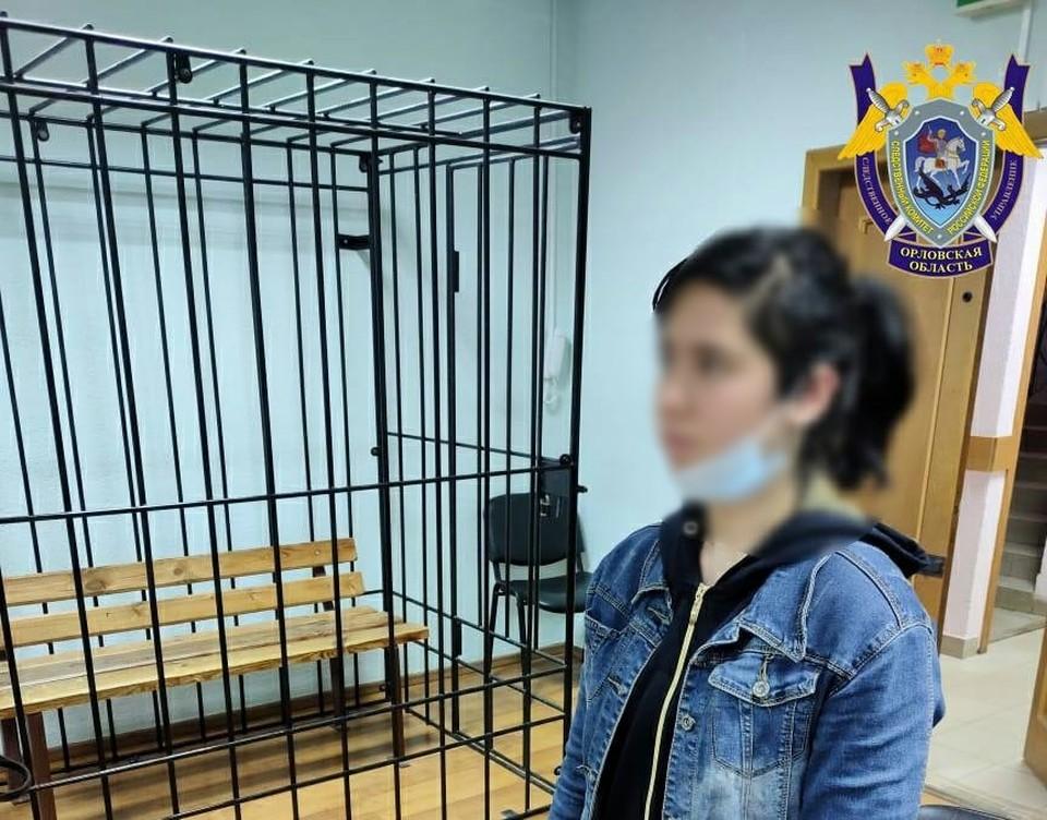 Подозреваемую в убийстве взяли под стражу. Фото: СУ СК РФ по Орловской области
