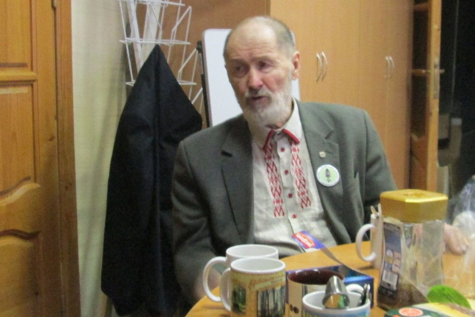 Валентин Пажетнов в Андреапольском краеведческом музее, декабрь 2017 года. Фото: Андреапольский краеведческий музей.