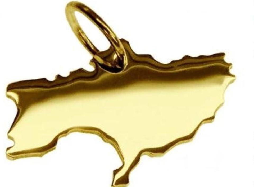 На площадке интернет-магазина продается золотая подвеска в виде карты Украины без Крыма. Фото: ForPost / скриншот с Amazon.