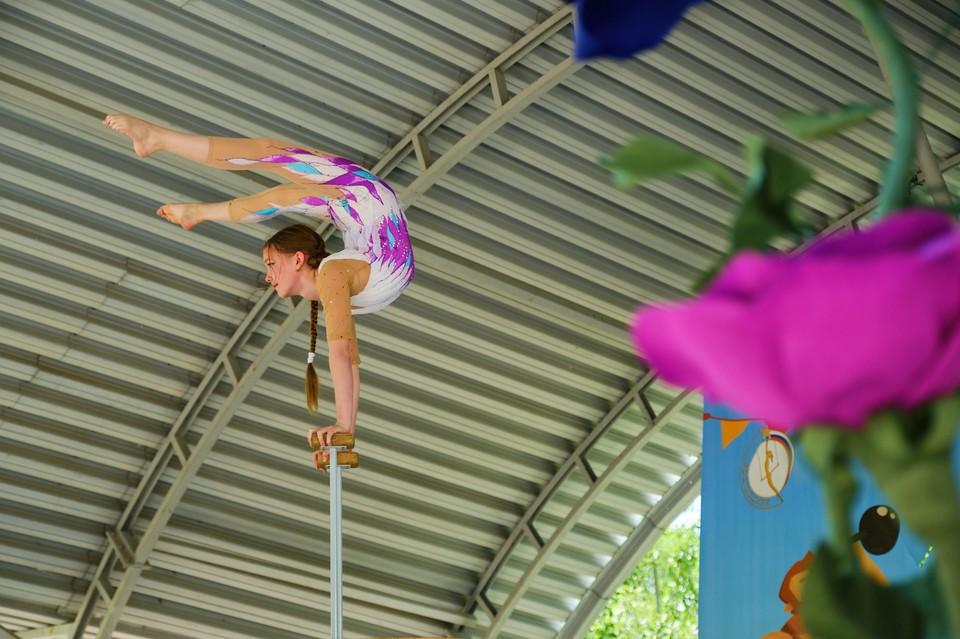 На празднике выступали воспитанники детской цирковой студии