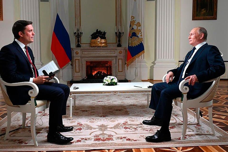 Владимир Путин дал интервью NBC 14 июня 2021 года.