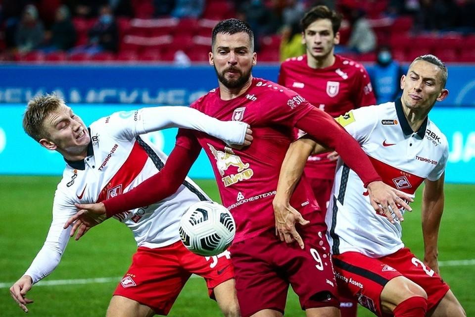 """В минувшем сезоне """"Рубин"""" и """"СПартак"""" обменялись победами с одинаковым счетом 2:0."""
