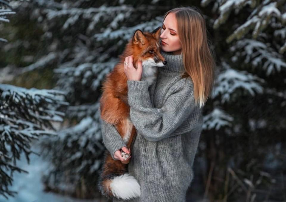 Лиса Лилу живет с Екатериной уже год. Фото: Екатерина Ларюшкина.