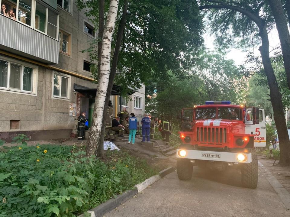 Пожар произошел на первом этаже дома
