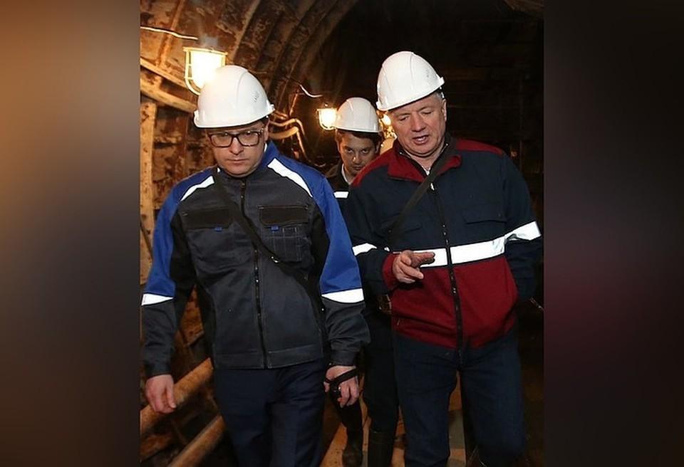 Марат Хуснуллин вместе с Алексеем Текслером в Челябинском метро. Фото: instagram.com/alexeytexler.official