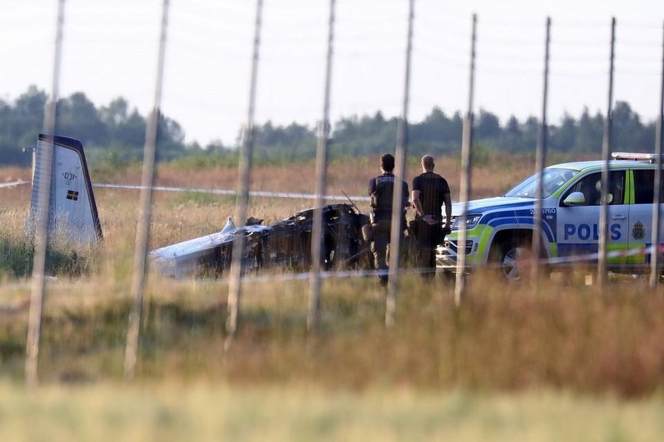 Восемь парашютистов и пилот погибли во время крушения самолета в Швеции. Фото: EPA-EFE   JEPPE GUSTAFSSON