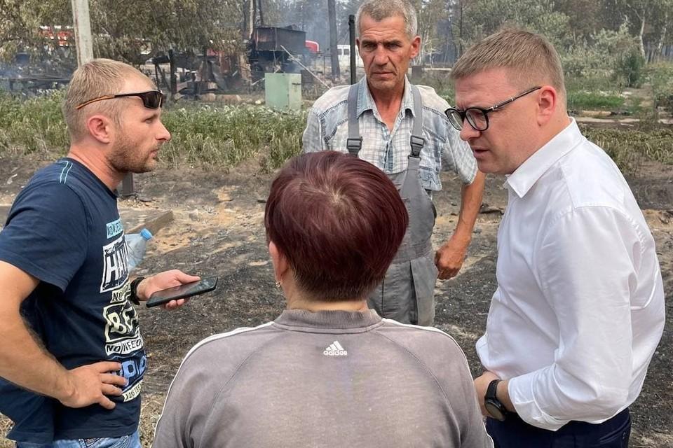 Сегодня утром жители поселка Запасное встретились с губернатором. Фото: правительство Челябинской области