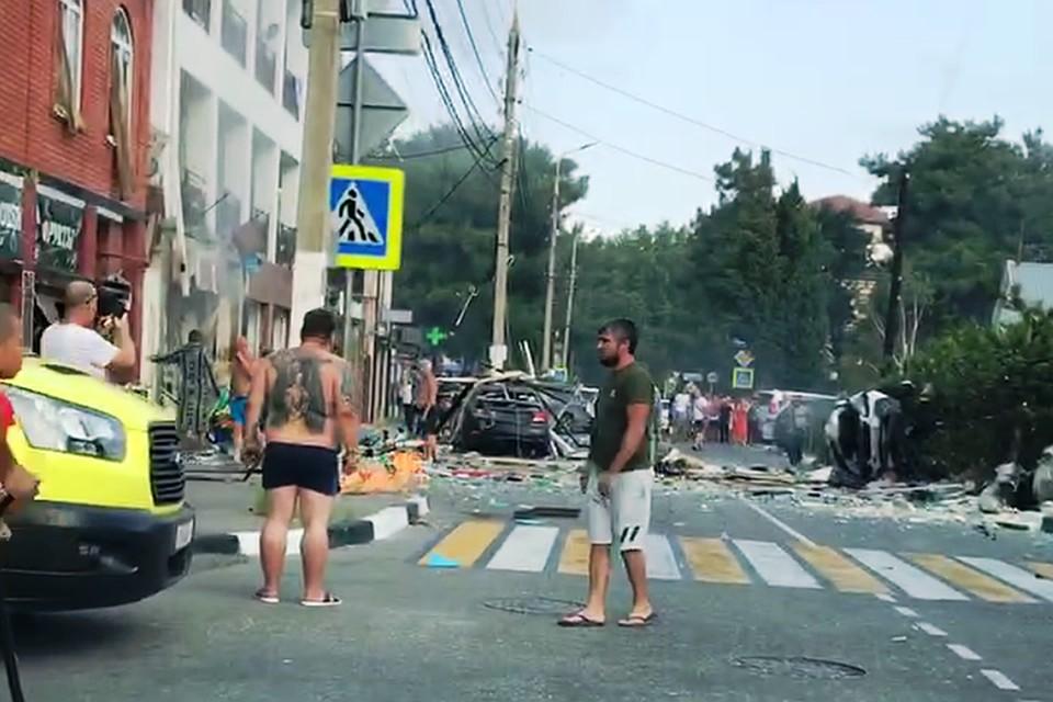 Взрыв газа в гостинице Геленджика