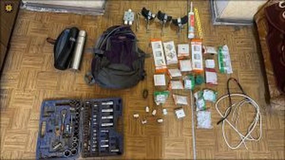 Пистолет воры успели продать (Фото: столичная полиция).