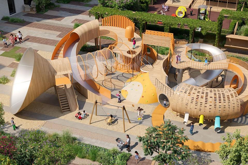 Проект детской площадки в премиум-квартале JAZZ-Квартал. Фото jazzkvartal.ru