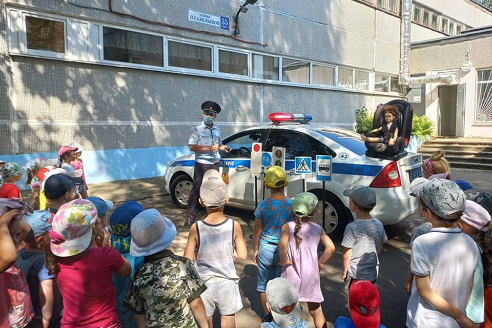 Дошкольникам напомнили о правилах безопасности Фото: УГИБДД России по Тверской области