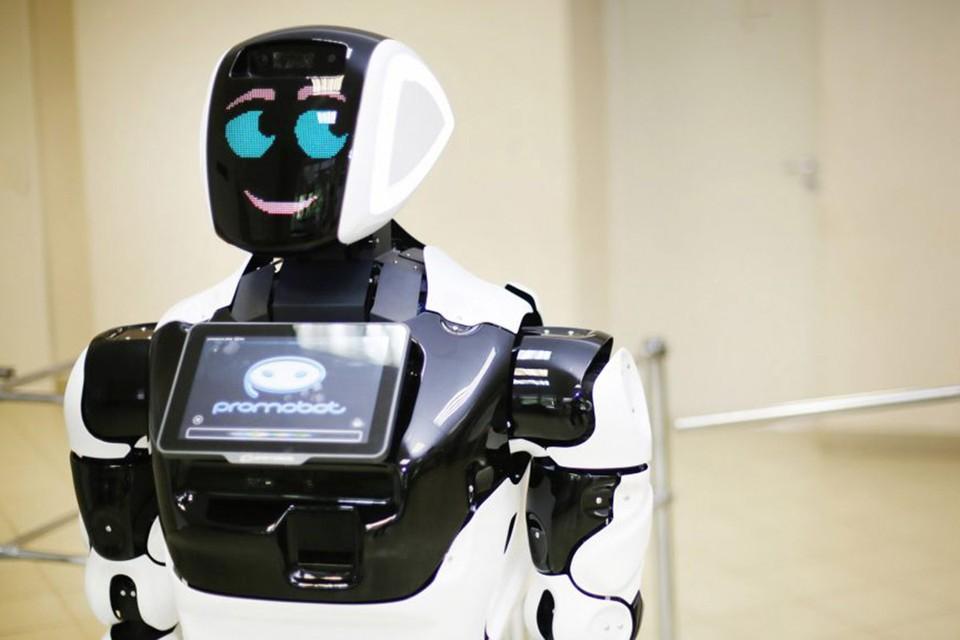 В ОАЭ российского робота планируют использовать для поддержания порядка на территориях крупнейших торговых центров. Фото: promo-bot.ru