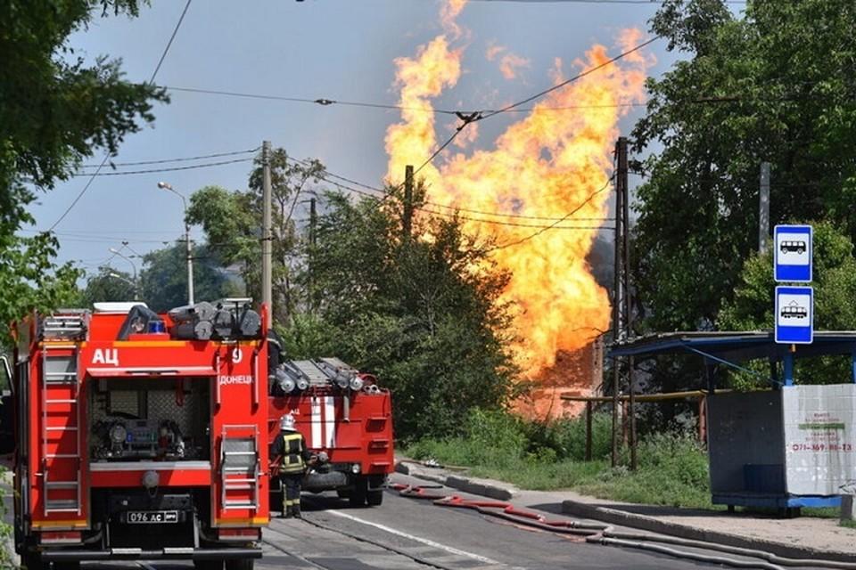 Взрыв произошел в Буденновском районе столицы. Фото: ДАН