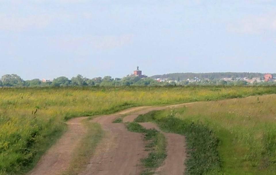 Вид на село Коростово через Оку