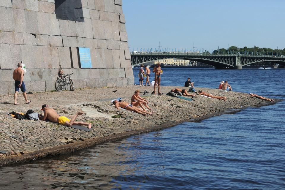 В Петербурге обещают температуру воздуха до 30 градусов в субботу.