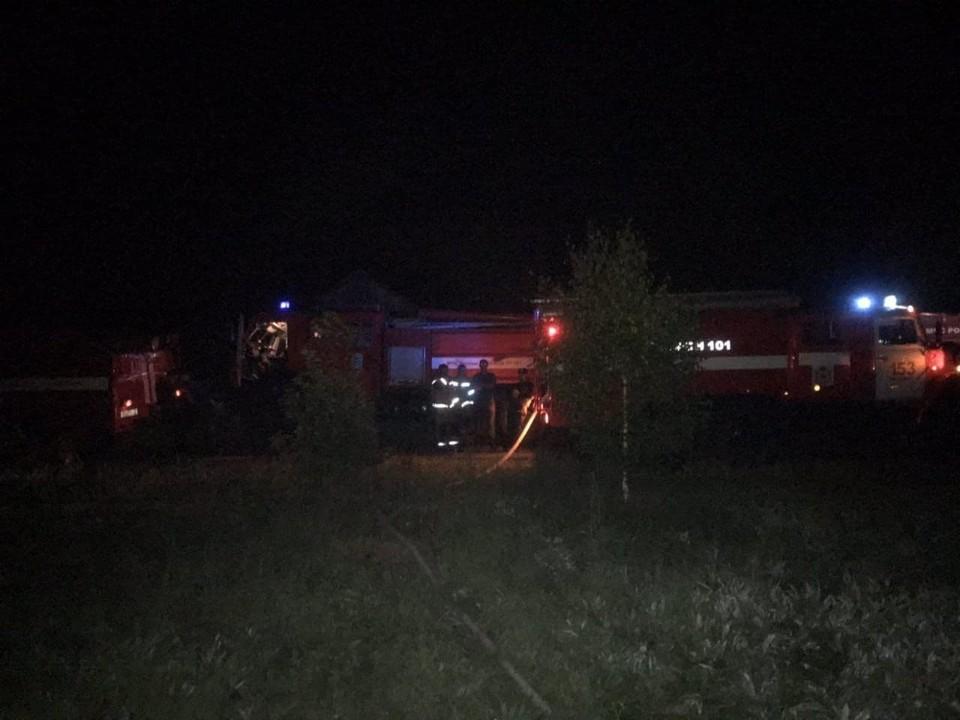 Двое погибли при пожаре в Арзамасском районе ночью 16 июля. ФОТО: ГУ МЧС России по Нижегородской области