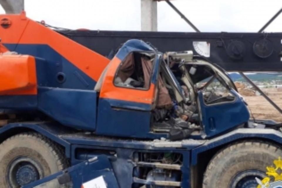 Сибиряк погиб после того, как на него упала бетонная балка. Фото: СУ СК России по Забайкалью.