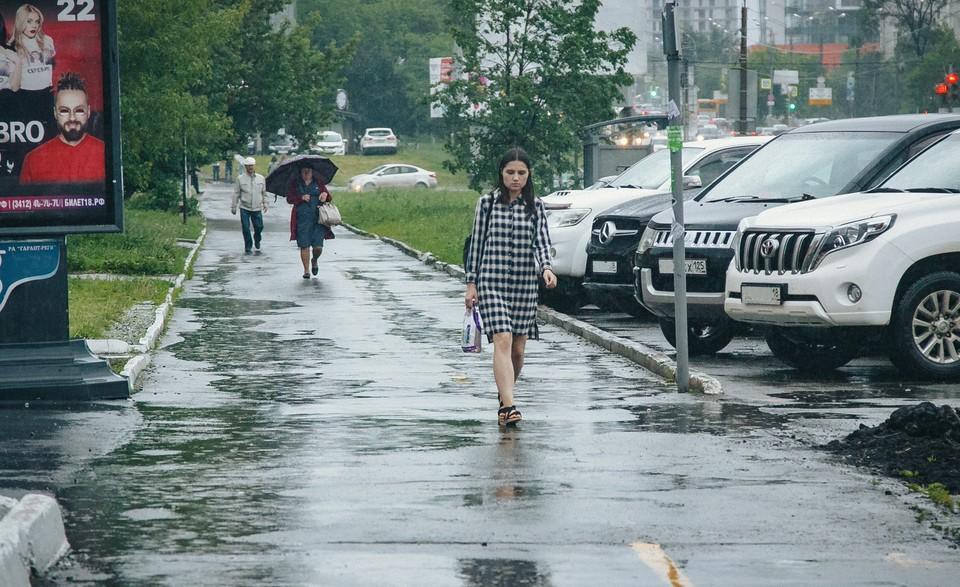 Небольшие дожди ожидаются в Ижевске 18 июля