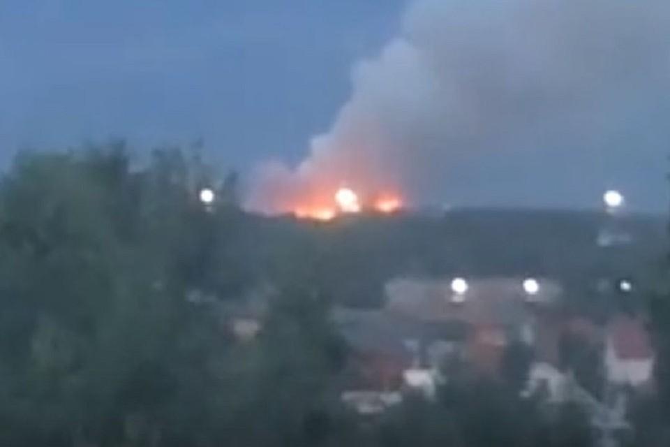 В Новосибирске полностью потушили пожар на Хилокской свалке. Фото: соцсети.
