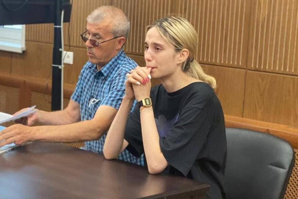 Валерия Башкирова, сбившая на машине трех детей в Солнцево, во время рассмотрения в Тверском районном суде ходатайства об ужесточении меры пресечения. Фото: пресс-служба суда.