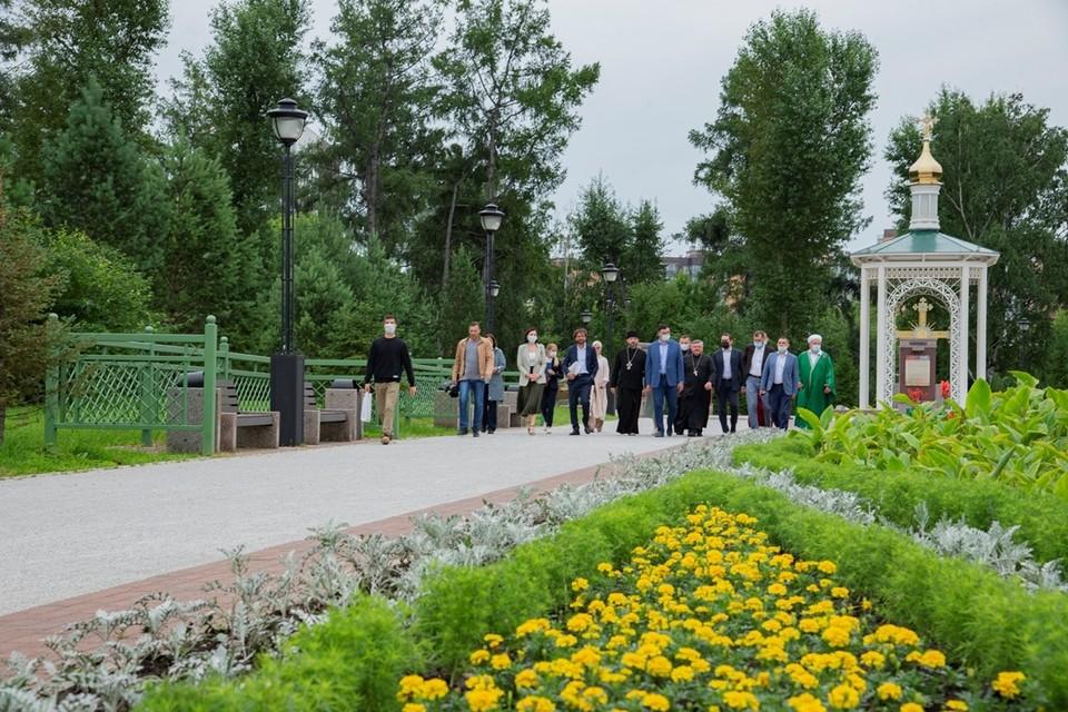 Члены Координационного межконфессионального совета побывали в мемориальном комплексе «Иерусалимская гора».