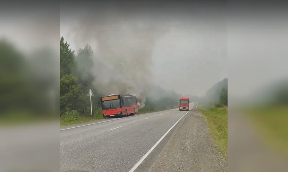 Фото: кадр видео Вконтакте ЧП и ДТП   Чрезвычайное происшествие   ПЕРМЬ