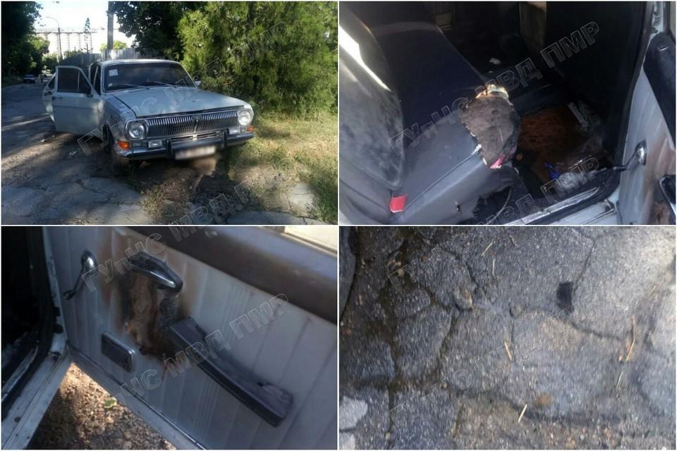 Хорошо, что автомобиль не сгорел полностью! (Фото: МВД Приднестровья).