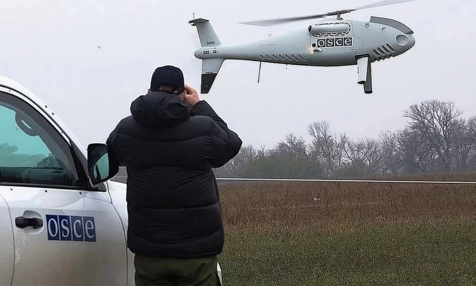 В Донбассе украинские военные потренировались сбивать беспилотники ОБСЕ. Фото: СММ ОБСЕ