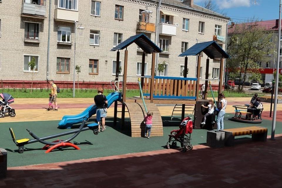 В сквере появилась детская игровая площадка.